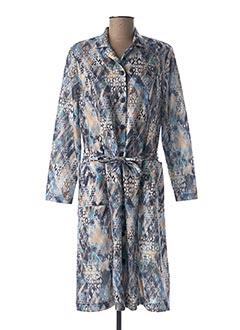 Robe mi-longue bleu FRANCE RIVOIRE pour femme