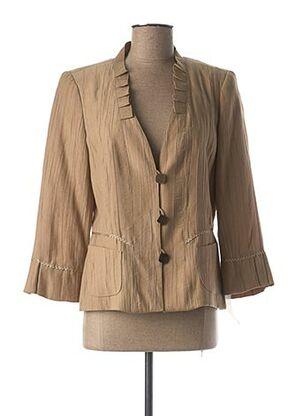 Veste casual marron ANNE KELLY pour femme