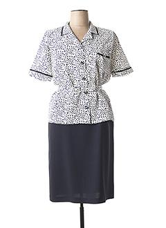 Veste/robe bleu FRANCE RIVOIRE pour femme