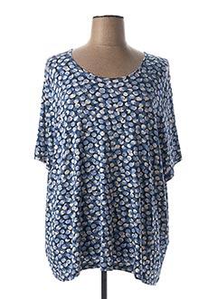 T-shirt manches courtes bleu FRANCOISE F pour femme