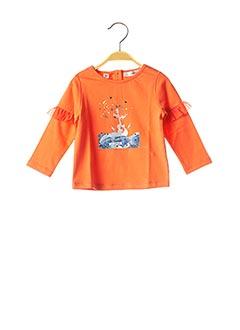 T-shirt manches longues orange MARESE pour fille