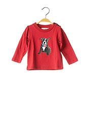 T-shirt manches longues rouge MARESE pour garçon seconde vue