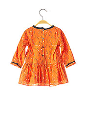 Robe mi-longue orange MARESE pour fille seconde vue