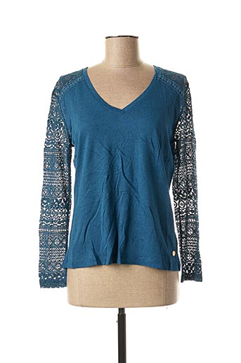 T-shirt manches longues bleu LE BOUDOIR D'EDOUARD pour femme