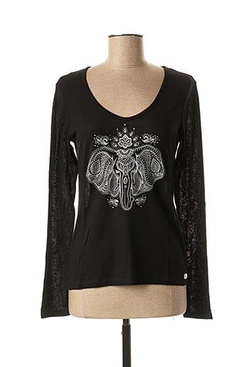 T-shirt manches longues noir LE BOUDOIR D'EDOUARD pour femme