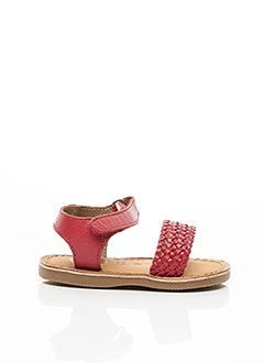 Sandales/Nu pieds rouge GIOSEPPO pour fille