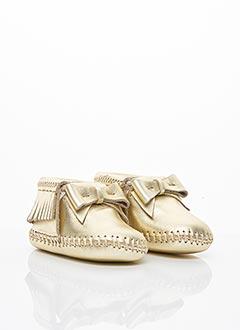 Chaussons/Pantoufles beige MINNETONKA pour fille