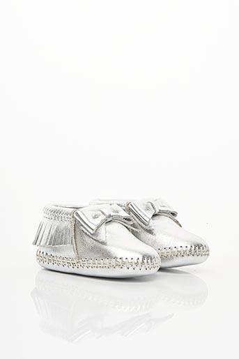 Chaussons/Pantoufles gris MINNETONKA pour fille