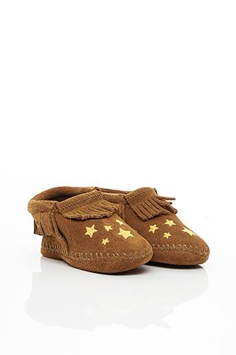 Chaussons/Pantoufles marron MINNETONKA pour fille