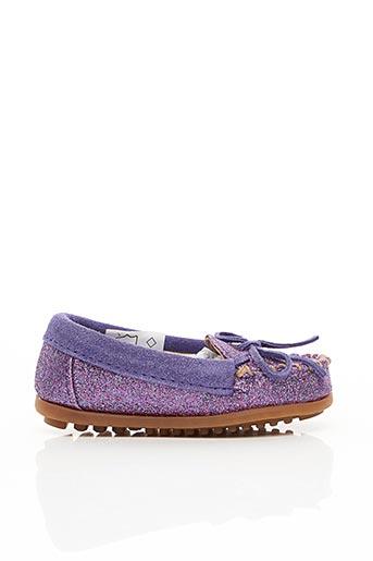 Chaussures bâteau violet MINNETONKA pour fille