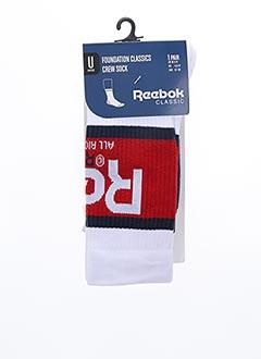 Chaussettes blanc REEBOK pour unisexe