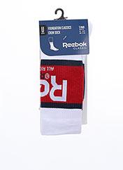 Chaussettes blanc REEBOK pour unisexe seconde vue