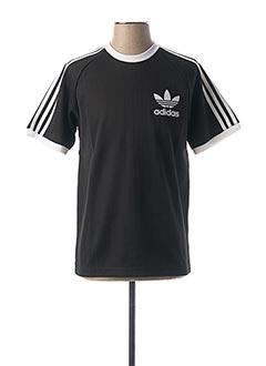 T-shirt manches courtes noir ADIDAS pour homme