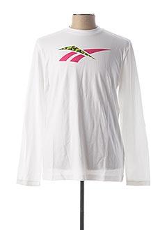 T-shirt manches longues blanc REEBOK pour homme
