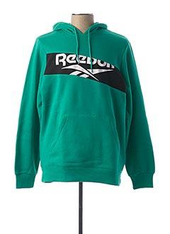 Sweat-shirt vert REEBOK pour homme