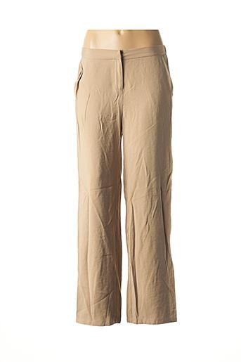 Pantalon casual beige ARTLOVE pour femme