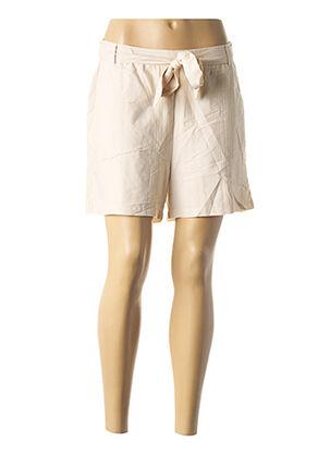 Short beige ICHI pour femme