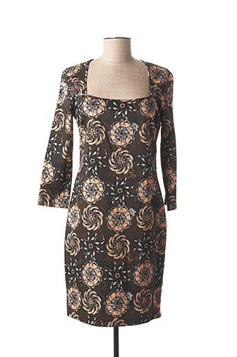 Robe mi-longue marron GALLIANO pour femme