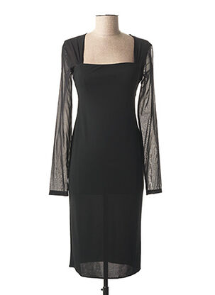 Robe mi-longue noir GALLIANO pour femme