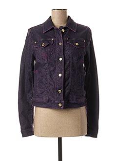 Veste en jean violet GALLIANO pour femme