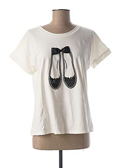T-shirt manches courtes blanc LEO & UGO pour femme