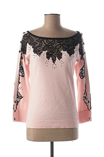 Pull col rond rose GRÈGE pour femme