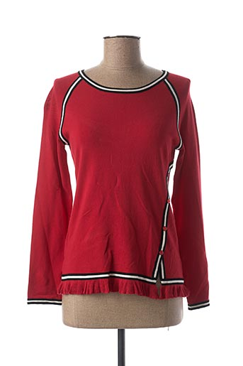 Pull col rond rouge GRÈGE pour femme