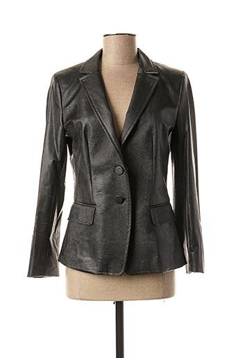 Veste simili cuir marron MARELLA pour femme