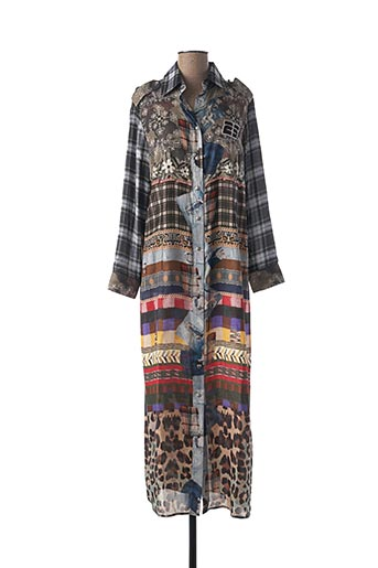 Robe longue marron MUCHO GUSTO pour femme