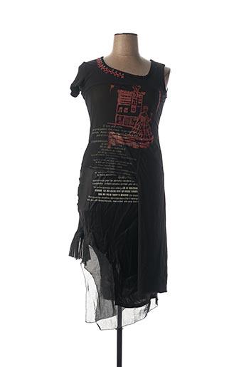 Robe mi-longue noir PIANURASTUDIO pour femme