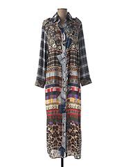Robe longue marron MUCHO GUSTO pour femme seconde vue