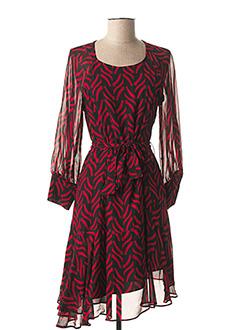 Robe mi-longue rouge MARELLA pour femme