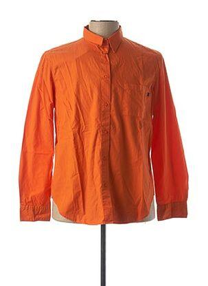 Chemise manches longues orange TRUSSARDI JEANS pour homme