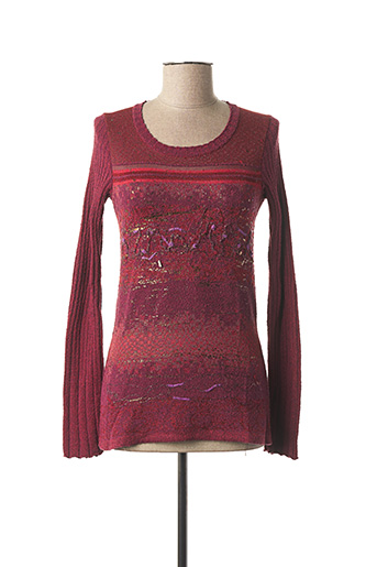 Pull col rond rouge KENZO pour femme