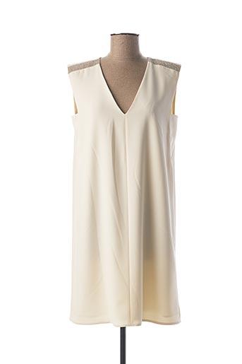 Robe mi-longue beige MARELLA pour femme