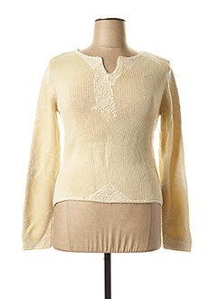 Pull col rond beige GIANFRANCO FERRE pour femme