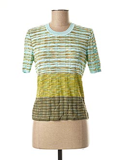 Pull col rond vert MISSONI pour femme