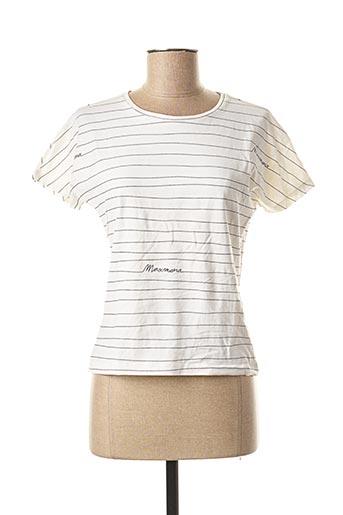 T-shirt manches courtes blanc MAXMARA pour femme