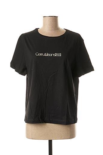 T-shirt manches courtes noir CERRUTI 1881 pour femme