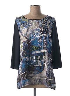 T-shirt manches longues bleu LEBEK pour femme