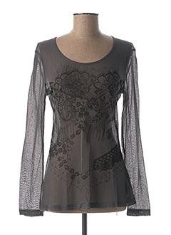 T-shirt manches longues gris ANGEL NEVER DIE pour femme