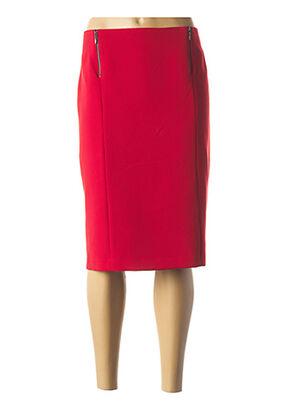Jupe mi-longue rouge ANNE KELLY pour femme