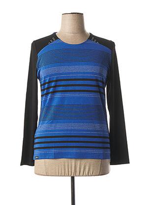 T-shirt manches longues bleu ANNE KELLY pour femme
