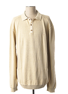 Pull col chemisier beige WESLEY pour homme