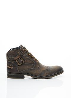 Bottines/Boots marron BUGATTI pour homme