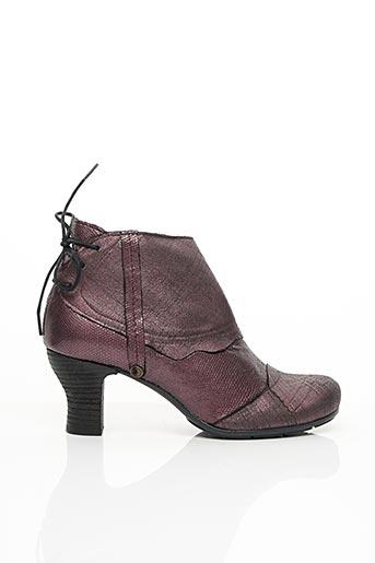 Bottines/Boots violet GOLD BUTTON pour femme