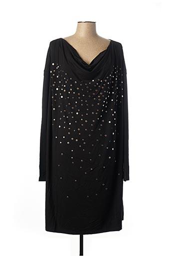 Robe mi-longue noir MARINA RINALDI pour femme