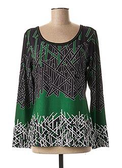 T-shirt manches longues vert LO! LES FILLES pour femme