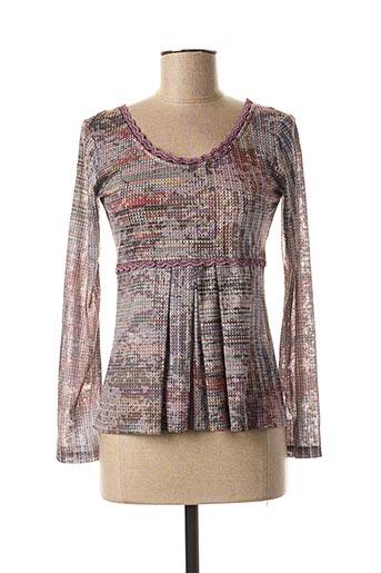 T-shirt manches longues rose LO! LES FILLES pour femme
