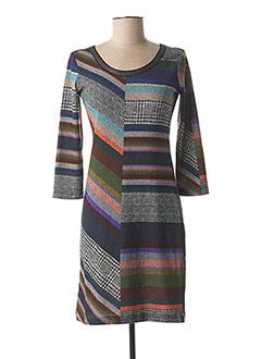 Robe courte gris LO! LES FILLES pour femme